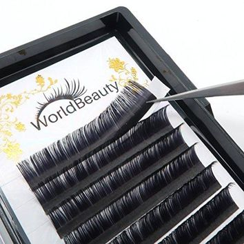 Professional Eyelash Extensions D Curl 0.15mm 16mm Silk Individual Natural Black Faux Mink Lash Extensions Suppliers for Salon Use