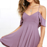 Lifetime of Love Mauve Backless Skater Dress