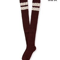 Aeropostale  Womens Striped Over-The-Knee Socks