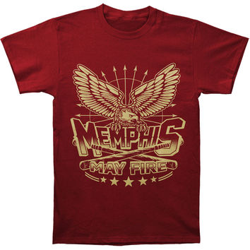 Memphis May Fire Men's  Eagle Clubs T-shirt Red Rockabilia