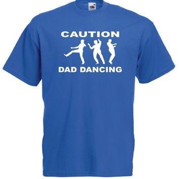 Caution Dad Dancing - Funny Men's T-shirt
