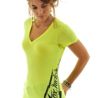 Fox Day Glo Yellow Suspended Womens T-Shirt | Fox | FreestyleXtreme Canada