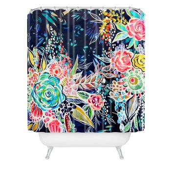 Stephanie Corfee Night Bloomers Shower Curtain