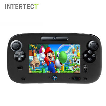 4 Colors Ultra Soft Silicone Rubber Case For Wii U Body Protector Gel Cover Skin Shell for Nintendo Wii U Gamepad Accessories