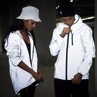 3m reflective jacket men/women harajuku windbreaker jackets hooded streetwear coats  3m jacket windbreakers