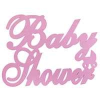 Large Baby Shower Foam Decoration, Pink, 24-Inch
