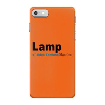 lamp   brick tamland likes this facebook thumbs up mens white t shirt iPhone 7 Case
