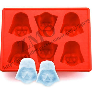 New Creative Silicone Star Wars Darth Vader Ice Cube Tray Mold Cookies Chocolate Soap Baking Kitchen Tool ice cream