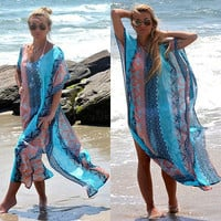 Kimono Swimwear Kaftan Beach Dress Bathing Suit Swimsuit New Sundress