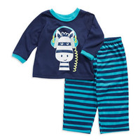 Little Me Two Piece Zebra Pajama Set