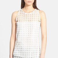 Women's Akris Sheer Square Sleeveless Top
