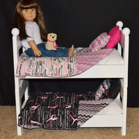 "Stackable Bunk Beds made to fit American Girl dolls or other 18"" dolls, battat, our generation"