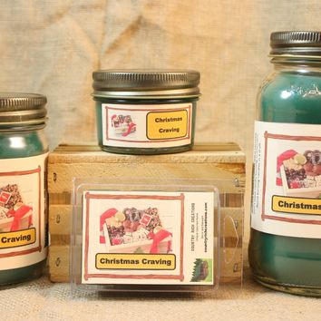 Christmas Cravings Candle and Wax Melts, Holiday Scent Candle, Highly Scented Candles and Wax Tarts, Christmas Candle,  Hostess Gift