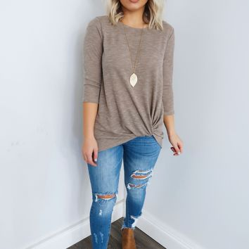 Search For Me Top: Taupe