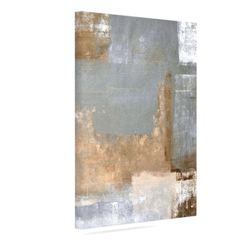 "CarolLynn Tice ""Gifted II"" Brown Gray Canvas Art"
