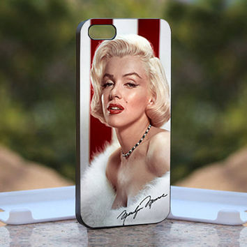 vintage marilyn monroe beautiful artis hollywood - Design available for iPhone 4 / 4S and iPhone 5 Case - black, white and clear cases