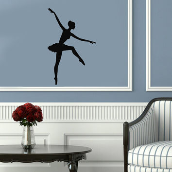Ballet Dance Studio Ballerina Housewares Wall Vinyl Decal Art Modern Design Murals Interior Decor Sticker Removable Room Window en80