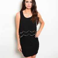 Scallop Little Black Holiday Dress
