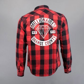 "MILLIONAIRES — Millionaires Red ""Club"" Flannel"