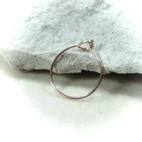 Super Thin Pink Gold Nose Ring with Hook