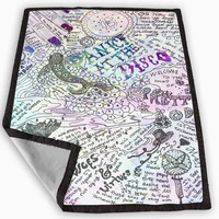 Design Panic At The Disco Lyric Quotes Blanket for Kids Blanket, Fleece Blanket Cute and Awesome Blanket for your bedding, Blanket fleece **