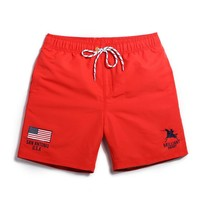 Brilliant Knight Men's Red Casual Quick Dry Beach Board Shorts