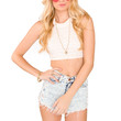 Wendy Crop Top - Ivory