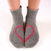 Love Heart Slipper Socks