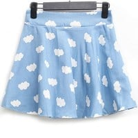 Cloud A-line Skirt - OASAP.com