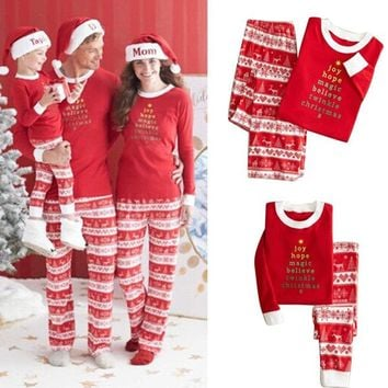 Family Mathing Pajamas Santa 65 Sets