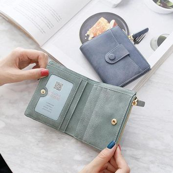 Women PU Leather Card Holder Wallet Purse Coin Wallet