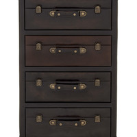 Wood Polyurethane Leather 4 Drawer Chest