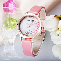 Original Brand Watches for Women Fashion Crystal quartz-watch Leather Strap Waterproof