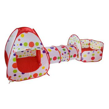 3 In 1 Baby Playpen Tent Pipeline Crawling Huge Game Play House Baby Play Yard Ball Pool Outdoor Indoor Crawling Baby Play Yard