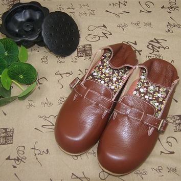 Summer Strong Character Leather Vintage Shoes [6048679297]