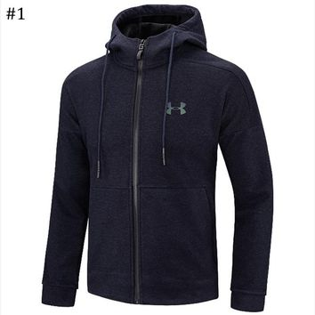 Under Armour autumn and winter new trend men's sports cardigan hooded sweater #1