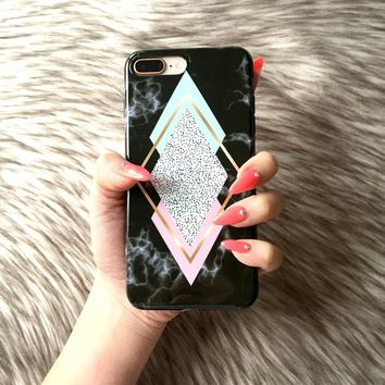 iPhone X 8 7 6 6s 6s Plus Phone Case NOVA Diamond Marble iPhone X Case iPhone 8 Case iPhone 7 Case Marble iPhone 6s Case Phone 6 Marble Case