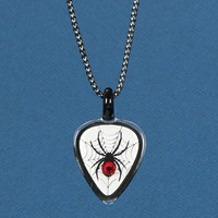 Glass Baron Spider, Guitar Pick Necklace