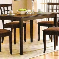 A.M.B. Furniture & Design :: Dining room furniture :: Dining table sets :: Espresso finish :: 5 pc espresso finish wood dining room table set
