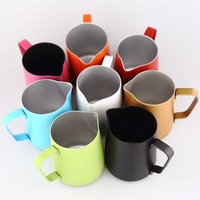 DCCKFS2 Espresso Stainless Steel Coffee Pitcher Barista gear 8 colors choice Kitchen Coffee Milk Frothing coffee Jug 350ml
