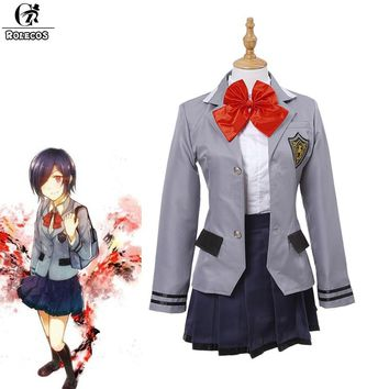 ROLECOS Brand Japanese Anime Tokyo Ghoul Cosplay Costumes Japanese School Uniform Touka Kirishima Cosplay Costumes