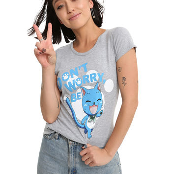 Fairy Tail Don't Worry Be Happy Girls T-Shirt