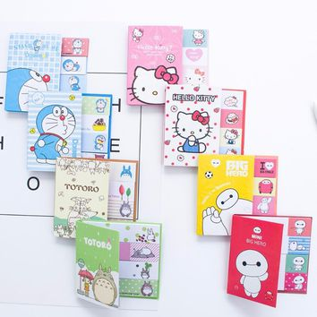 Hello Kitty Totoro Doraemon Baymax Stickers kawaii Self-Adhesive sticky notes stationery planner memo pad cute papeleri 01963