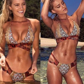 HOT SNAKE TWO PIECE PRINT BIKINIS