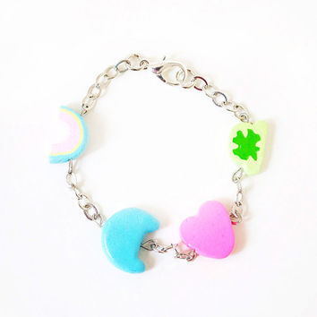 Lucky Charms-inspired Bracelet - Food Jewelry