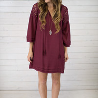 Boho Tassel Tie Dress