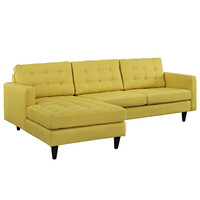 Empress Left-Arm Sectional Sofa in Sunny
