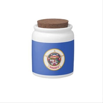 Minnesota State Flag Candy Jar