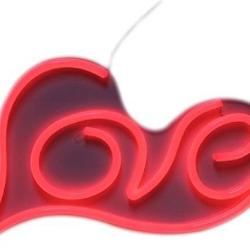 "VASTEN LED Neon Sign LOVE Lights Sign LOVE Bar Sign Love Signs Decor 19""11.8"" Red Love Neon Sign Remote Control For Girls Bedroom House Bar Pub Hotel Billards Beach Recreational Game Room Decor"