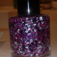 Rock Steady  Pink And Black Handmade Nail Polish by Backwoodsnails